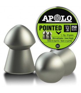 APOLLO pellets for PCP Airguns - Pointed 5,5 0.22