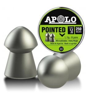 Balines APOLO para carabianas PCP de aire comprimido - Pointed Cal. 5,5
