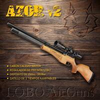 Carabina Azor v2. Una carabina de porte clásico con las mejores prestaciones.   #pcp #airgun #airgunshooting #carabina #pcpairrifle